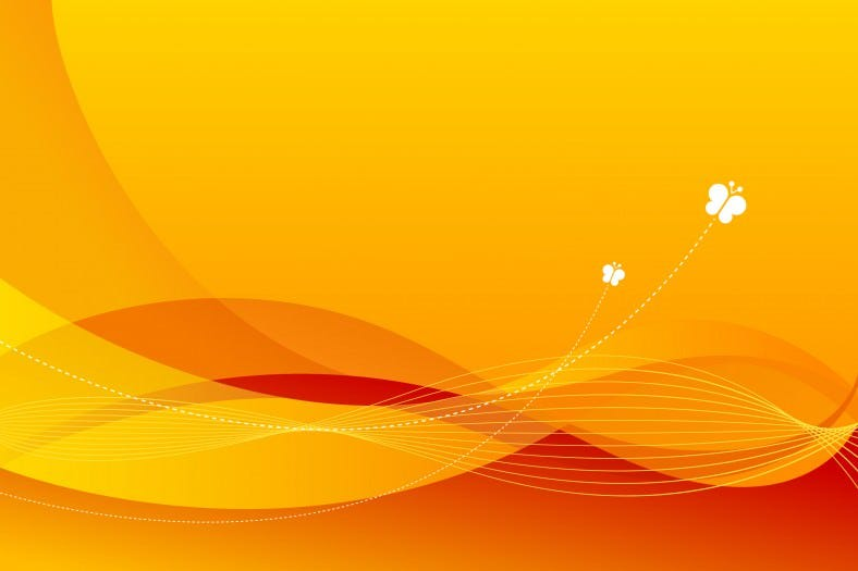 the orange line background vector material 788x525