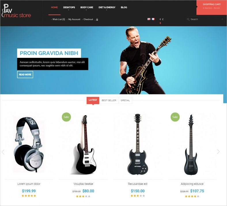 the best responsive opencart theme for music movies store 788x716