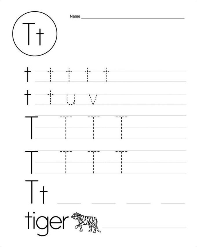 tiger spelling practice worksheet template