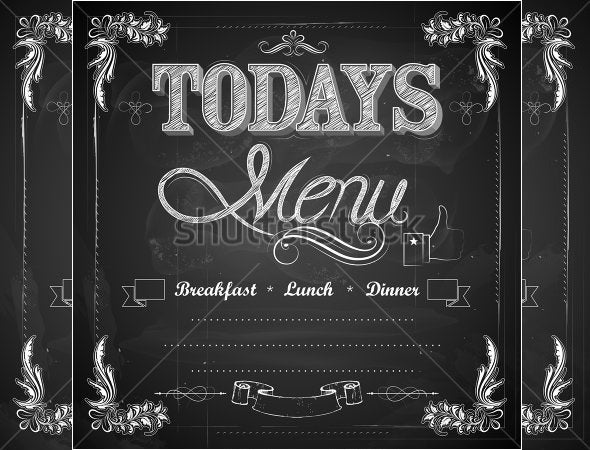 Nice Todays Lunch Menu Template Free Download Intended For Lunch Menu Template Free