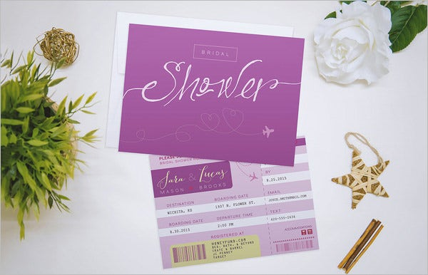 travel wedding shower invitation template