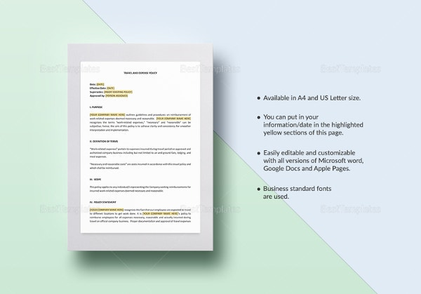 travel-and-expense-policy-template
