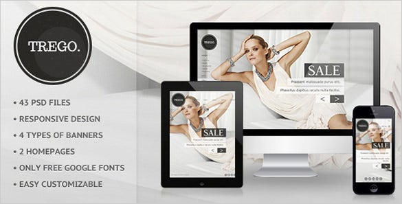 trego ecommerce psd template