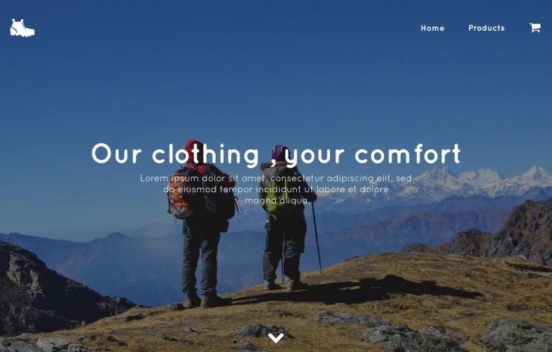 trekking store – psd template 788x502