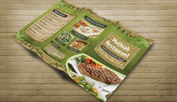 tri fold restaurant menu templates free akba greenw co