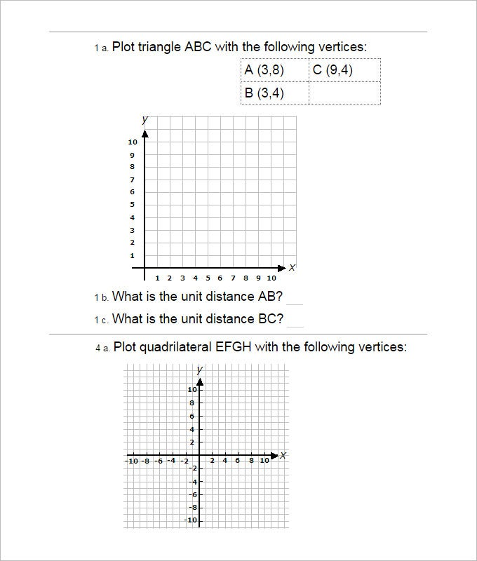 15 Coordinate Geometry Worksheet Templates – Geometry Worksheets High School