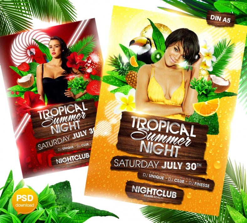 tropical summer night flyer 788x711