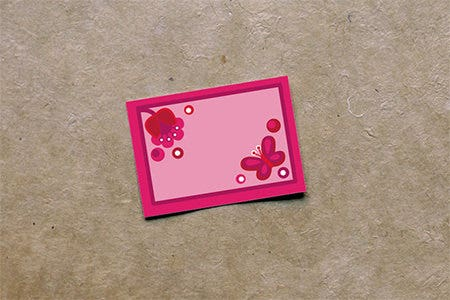 tulipa mini notecard template