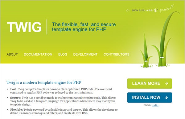 twig best php template engine
