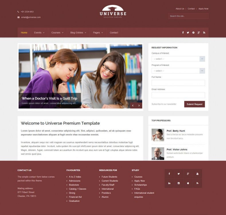 free html templates for college website - Yeni.mescale.co