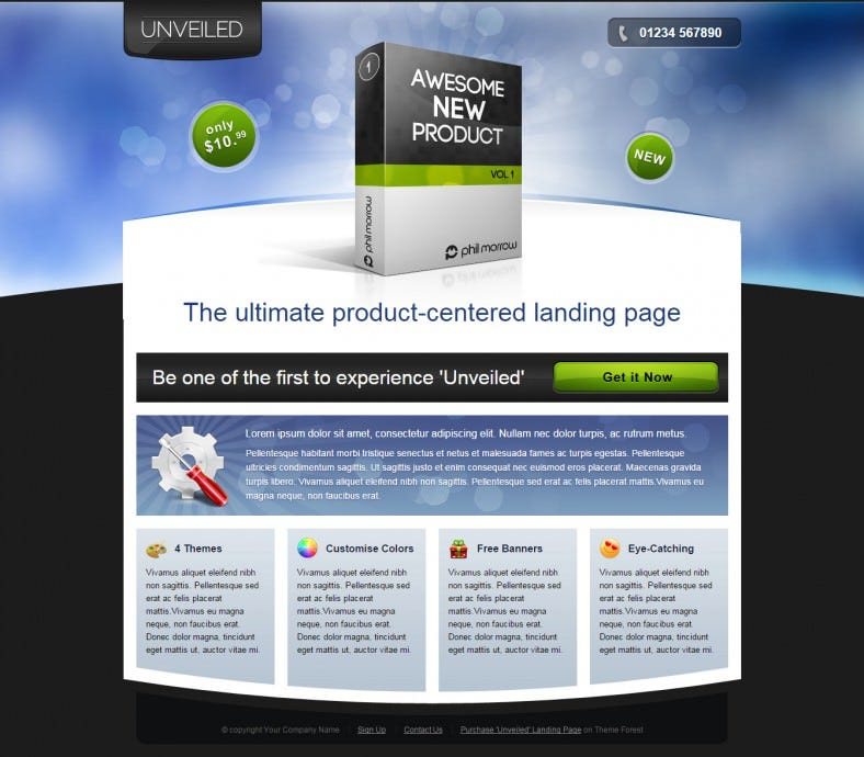 unveiled ultimate product focused landing page 788x690