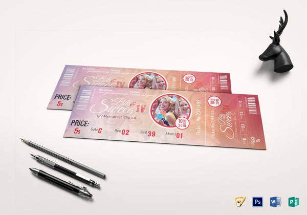 vip event ticket template download