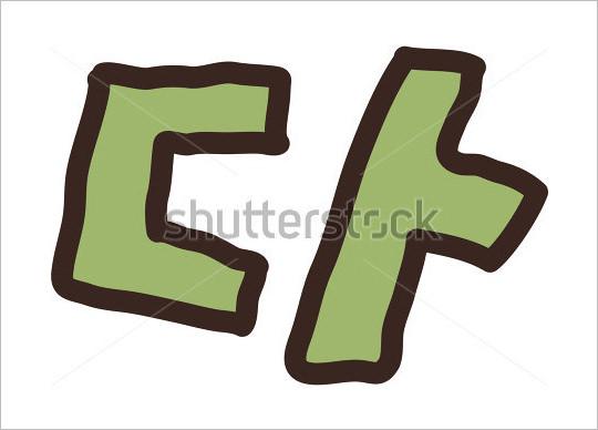 vector illustration korean alphabet letter