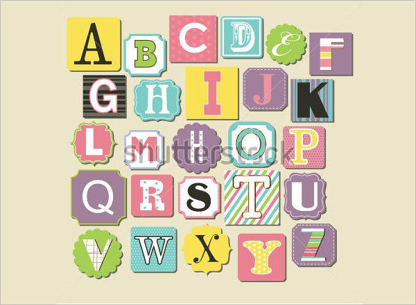 large alphabet letters template