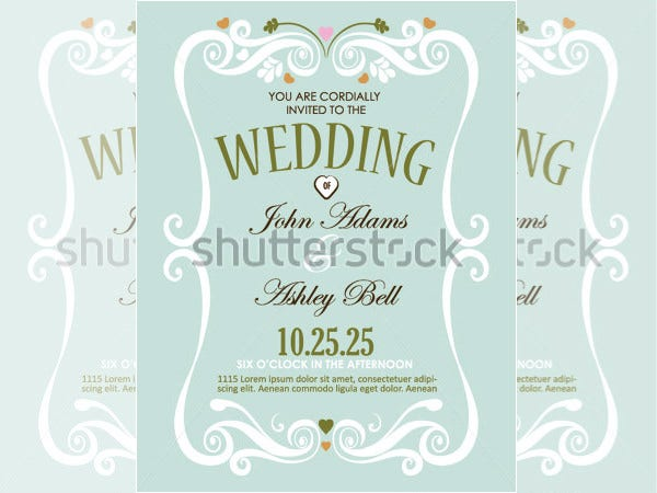 vector wedding shower invitation template