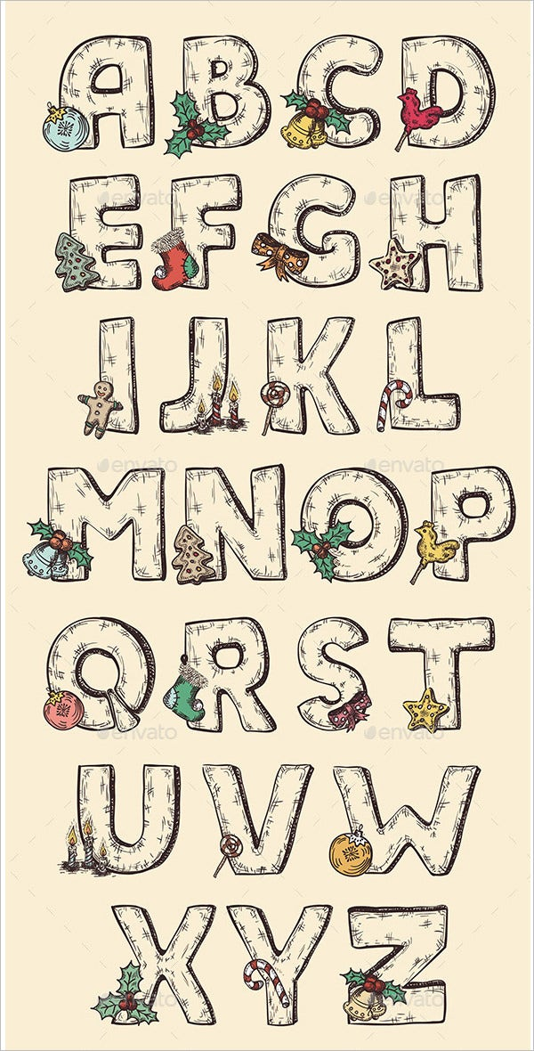 this large alphabet letters template comes with hand drawn letters extremely useful for christmas and new year celebrations the letters are transparent and