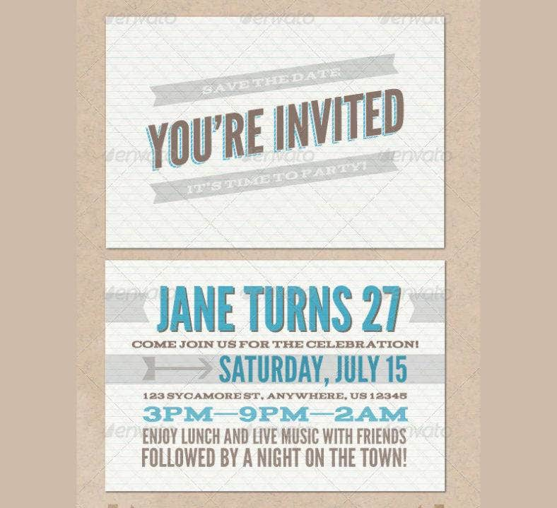 vintage get together invitation template 788x719