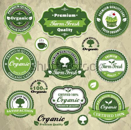 vintage organic food label template