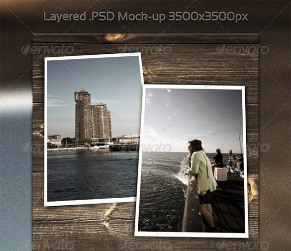 vintage psd digital album template