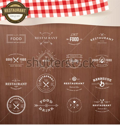 This Is An Enchanting Collection Of Ingredient Label Template Set  Consisting Of Various Vintage Style Elements For Badges And Labels.  Ingredients Label Template