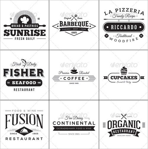 vintage style food label template