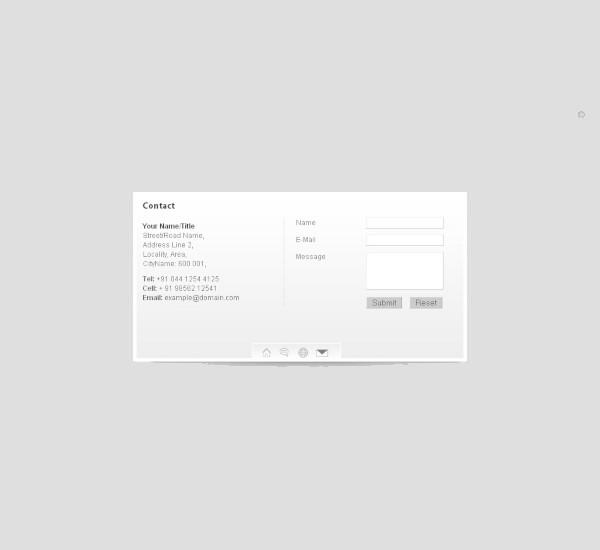 virtual business vcard theme