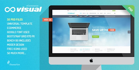 visual ecommerce psd template
