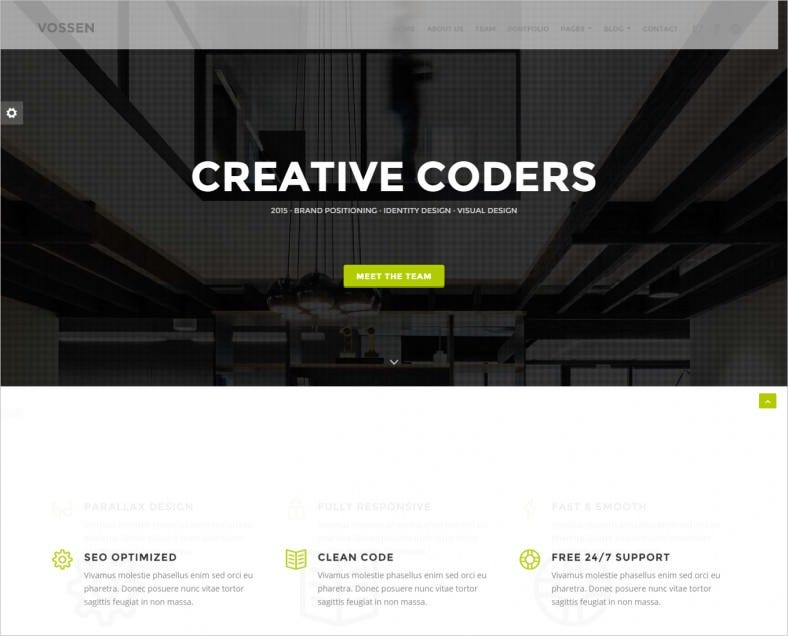 drupal themes free one page