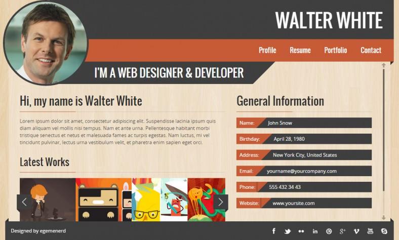 walter responsive vcard portfolio 788x474