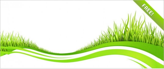 wave backgrounds with grass elements 1