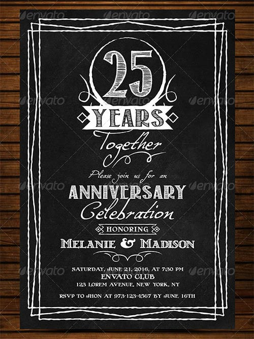 wedding anniversary best invitation template