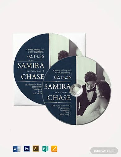wedding cd dvd cover label template