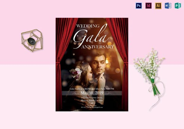wedding gala anniversary flyer
