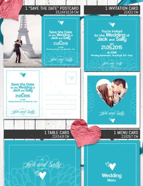 wedding invitation menu template