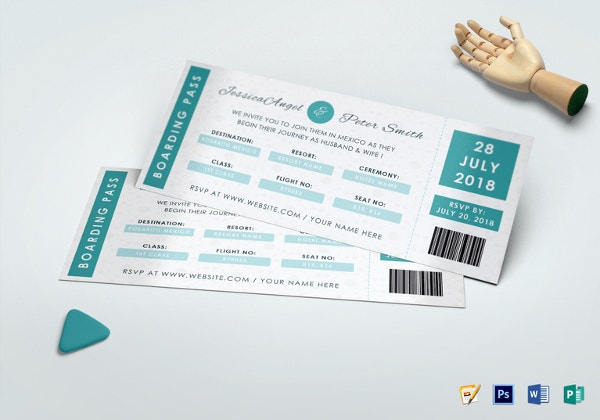 wedding invitation ticket templat