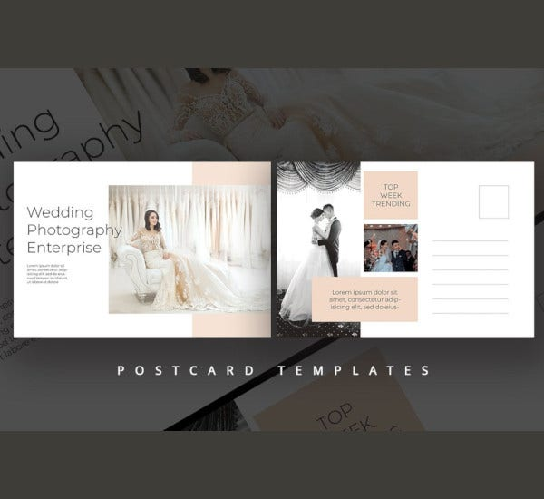 wedding photography postcard