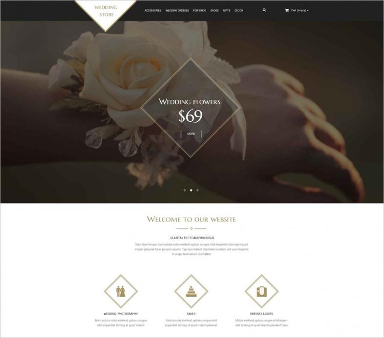 wedding shop psd template 788x694
