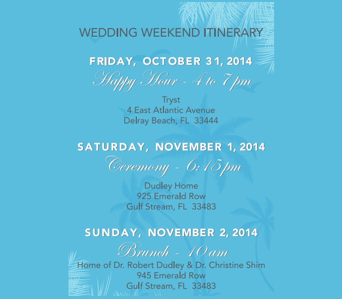 wedding weekend itinerary template - 7 free word, pdf documents, Powerpoint templates