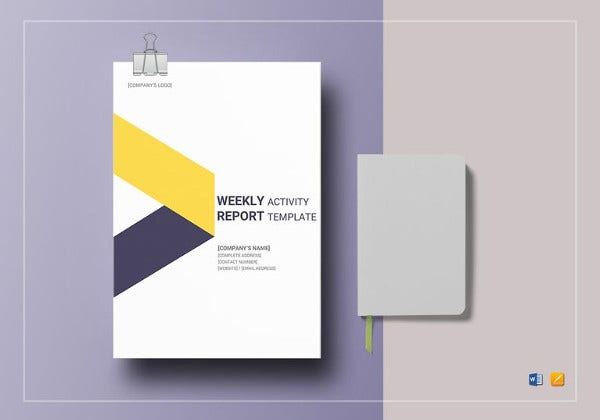 weekly activity report template to print