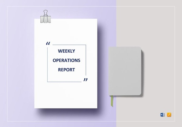 weekly-operations-report-template