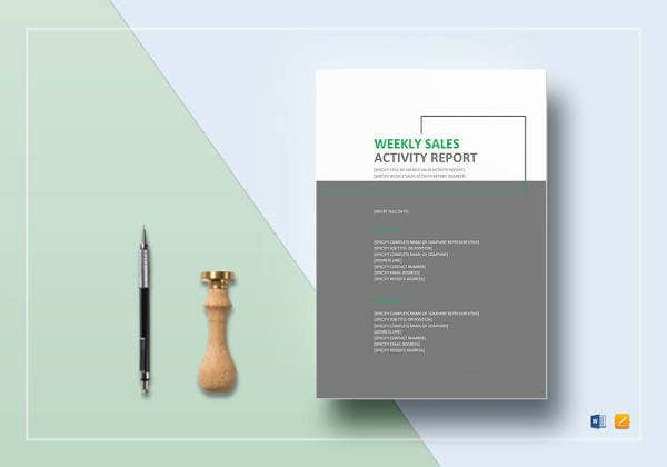 Weekly Sales Activity Report Template