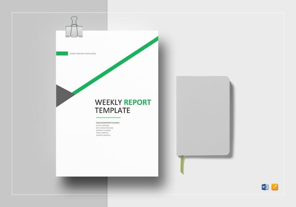 weekly status report template word