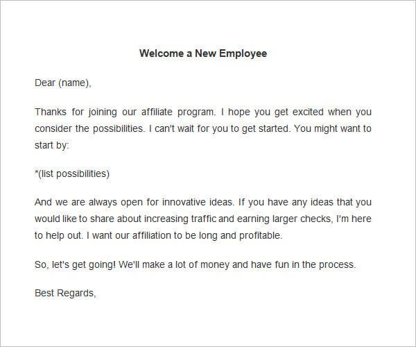 New employee templates militaryalicious employee welcome letter template new employee templates thecheapjerseys Gallery