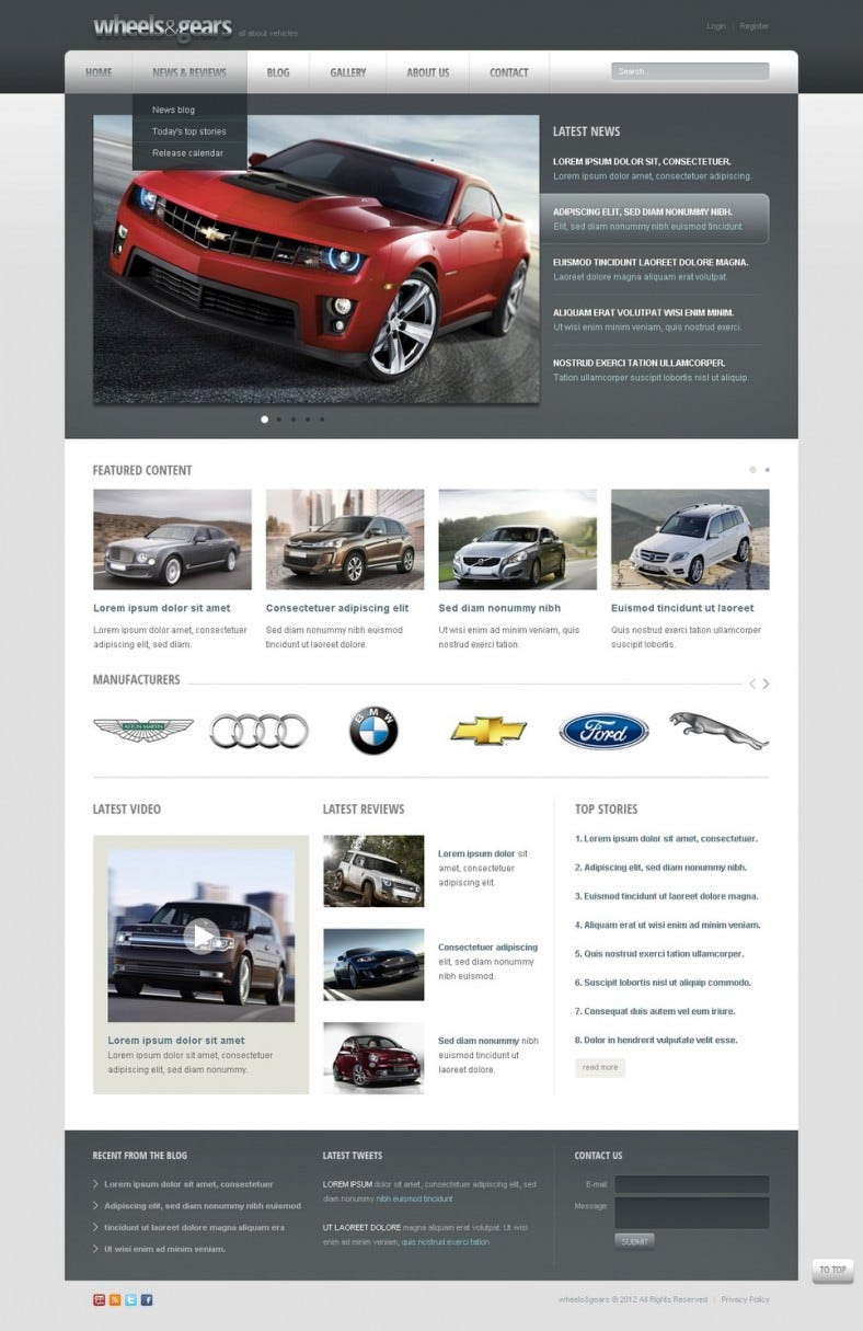 wheels tires drupal template 788x1215
