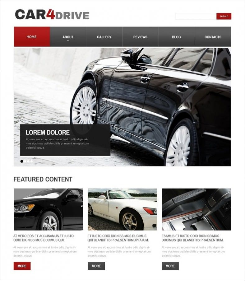 white car drupal template 788x903