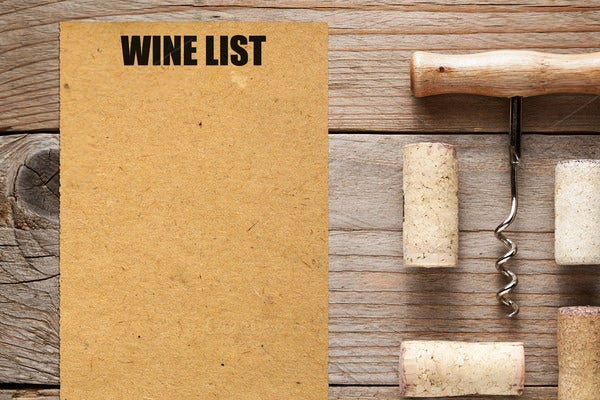Wine List And Corks With Corkscrew  Free Wine List Template