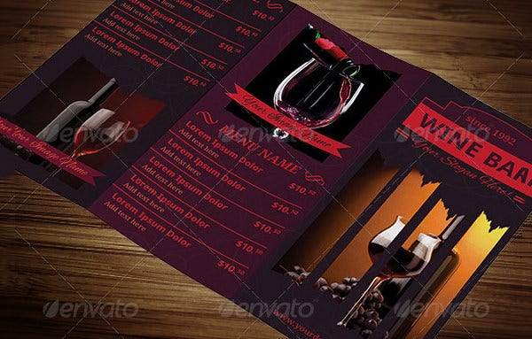 Wine Menu Template   Free Psd Eps Documents Download  Free