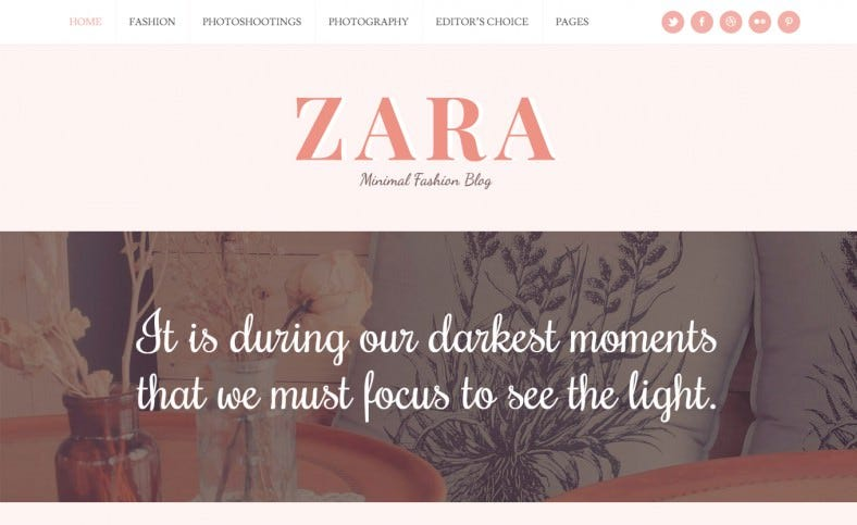 zara wordpress theme for fashion bloggers 788x483