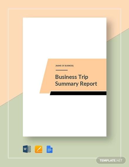 14 business trip report templates word pdf free premium