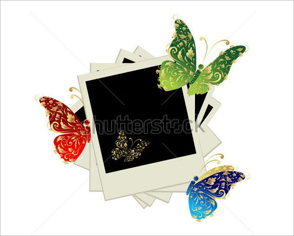 butterfly decoration psd digital album templates